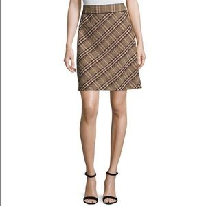 "Theory ""High-Waist Bexley Plaid Mini Skirt"""
